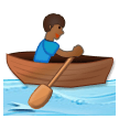 Person Rowing Boat: Medium-Dark Skin Tone on Samsung Galaxy S8 (April 2017)