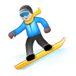 Snowboarder: Light Skin Tone on Samsung Experience 8.5 (Galaxy Note S8)