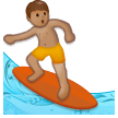 Person Surfing: Medium Skin Tone on Samsung Galaxy S8 (April 2017)