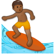 Person Surfing: Medium-Dark Skin Tone on Samsung Galaxy S8 (April 2017)