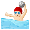 Person Playing Water Polo: Light Skin Tone on Samsung Experience 8.5 (Galaxy Note S8)