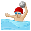 Person Playing Water Polo: Medium-Light Skin Tone on Samsung Galaxy S8 (April 2017)