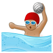 Person Playing Water Polo: Medium Skin Tone on Samsung Galaxy S8 (April 2017)