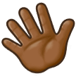 Waving Hand: Medium-Dark Skin Tone on Samsung Galaxy S8 (April 2017)
