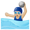 Woman Playing Water Polo: Medium-Light Skin Tone on Samsung Experience 8.5 (Galaxy Note S8)