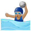 Woman Playing Water Polo: Medium Skin Tone on Samsung Galaxy S8 (April 2017)