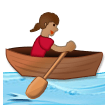 Woman Rowing Boat: Medium Skin Tone on Samsung Experience 8.5 (Galaxy Note S8)