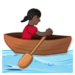 Woman Rowing Boat: Dark Skin Tone on Samsung Galaxy S8 (April 2017)