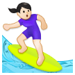 Woman Surfing: Light Skin Tone on Samsung Galaxy S8 (April 2017)
