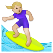 Woman Surfing: Medium-Light Skin Tone on Samsung Galaxy S8 (April 2017)