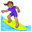 Woman Surfing: Medium Skin Tone on Samsung Galaxy S8 (April 2017)