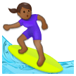 Woman Surfing: Medium-Dark Skin Tone on Samsung Experience 8.5 (Galaxy Note S8)