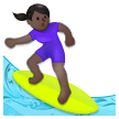 Woman Surfing: Dark Skin Tone on Samsung Galaxy S8 (April 2017)