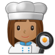 Woman Cook: Medium Skin Tone on Samsung Experience 9.0