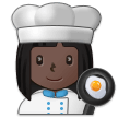 Woman Cook: Dark Skin Tone on Samsung Experience 9.0