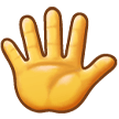 Hand With Fingers Splayed on Samsung Experience 9.0