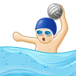 Person Playing Water Polo: Light Skin Tone on Samsung Experience 9.0