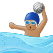 Person Playing Water Polo: Medium Skin Tone on Samsung Experience 9.0