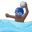 Person Playing Water Polo: Dark Skin Tone on Samsung Experience 9.0