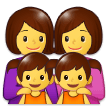 Family: Woman, Woman, Girl, Girl on Samsung Experience 9.1