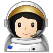 Woman Astronaut: Light Skin Tone on Samsung Experience 9.1