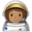 Woman Astronaut: Medium Skin Tone on Samsung Experience 9.1