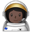 Woman Astronaut: Dark Skin Tone on Samsung Experience 9.1