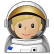 Man Astronaut: Medium-Light Skin Tone on Samsung Experience 9.1