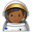 Man Astronaut: Medium-Dark Skin Tone on Samsung Experience 9.1