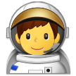 Man Astronaut on Samsung Experience 9.1