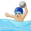 Man Playing Water Polo: Medium-Light Skin Tone on Samsung Experience 9.1