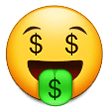 Money-Mouth Face on Samsung Experience 9.1