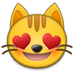 Smiling Cat Face With Heart-Eyes on Samsung Experience 9.1