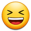 Grinning Squinting Face on Samsung Experience 9.1