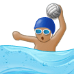 Person Playing Water Polo: Medium Skin Tone on Samsung Experience 9.1