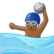 Person Playing Water Polo: Medium-Dark Skin Tone on Samsung Experience 9.1