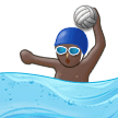 Person Playing Water Polo: Dark Skin Tone on Samsung Experience 9.1