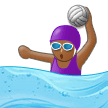 Woman Playing Water Polo: Medium-Dark Skin Tone on Samsung Experience 9.1