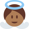 Baby Angel: Medium-Dark Skin Tone on Twitter Twemoji 2.3