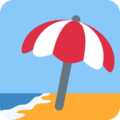 Beach With Umbrella on Twitter Twemoji 2.3