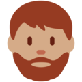 Bearded Person: Medium Skin Tone on Twitter Twemoji 2.3
