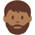 Bearded Person: Medium-Dark Skin Tone on Twitter Twemoji 2.3