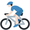 Person Biking: Light Skin Tone on Twitter Twemoji 2.3