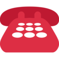 Telephone on Twitter Twemoji 2.3