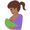 Breast-Feeding: Medium-Dark Skin Tone on Twitter Twemoji 2.3