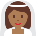 Bride With Veil: Medium-Dark Skin Tone on Twitter Twemoji 2.3