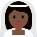 Bride With Veil: Dark Skin Tone on Twitter Twemoji 2.3
