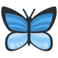 Butterfly on Twitter Twemoji 2.3