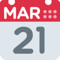 Calendar on Twitter Twemoji 2.3