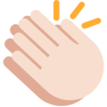 Clapping Hands: Light Skin Tone on Twitter Twemoji 2.3